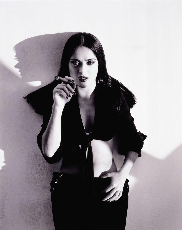 Сальма Хайек в фотосессии Рувена Афанадора для журнала GQ