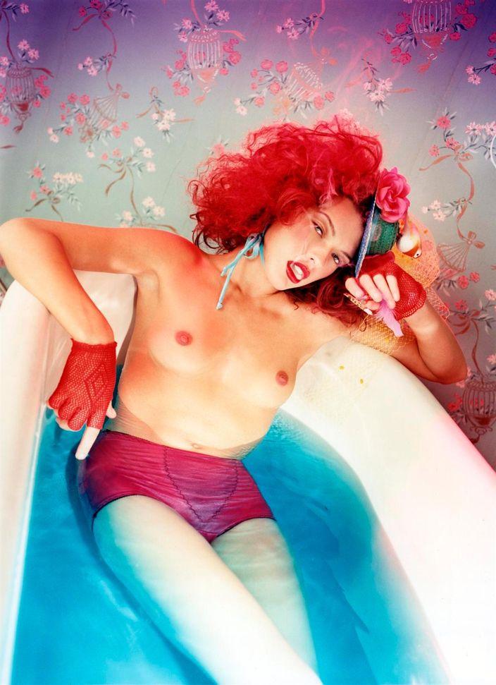 Милла Йовович в фотосессии Дэвида Лашапеля для журнала The Face