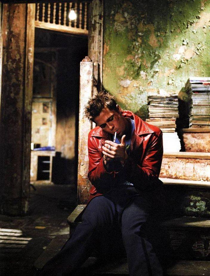 Брэд Питт в фотосессии для фильма Бойцовский клуб