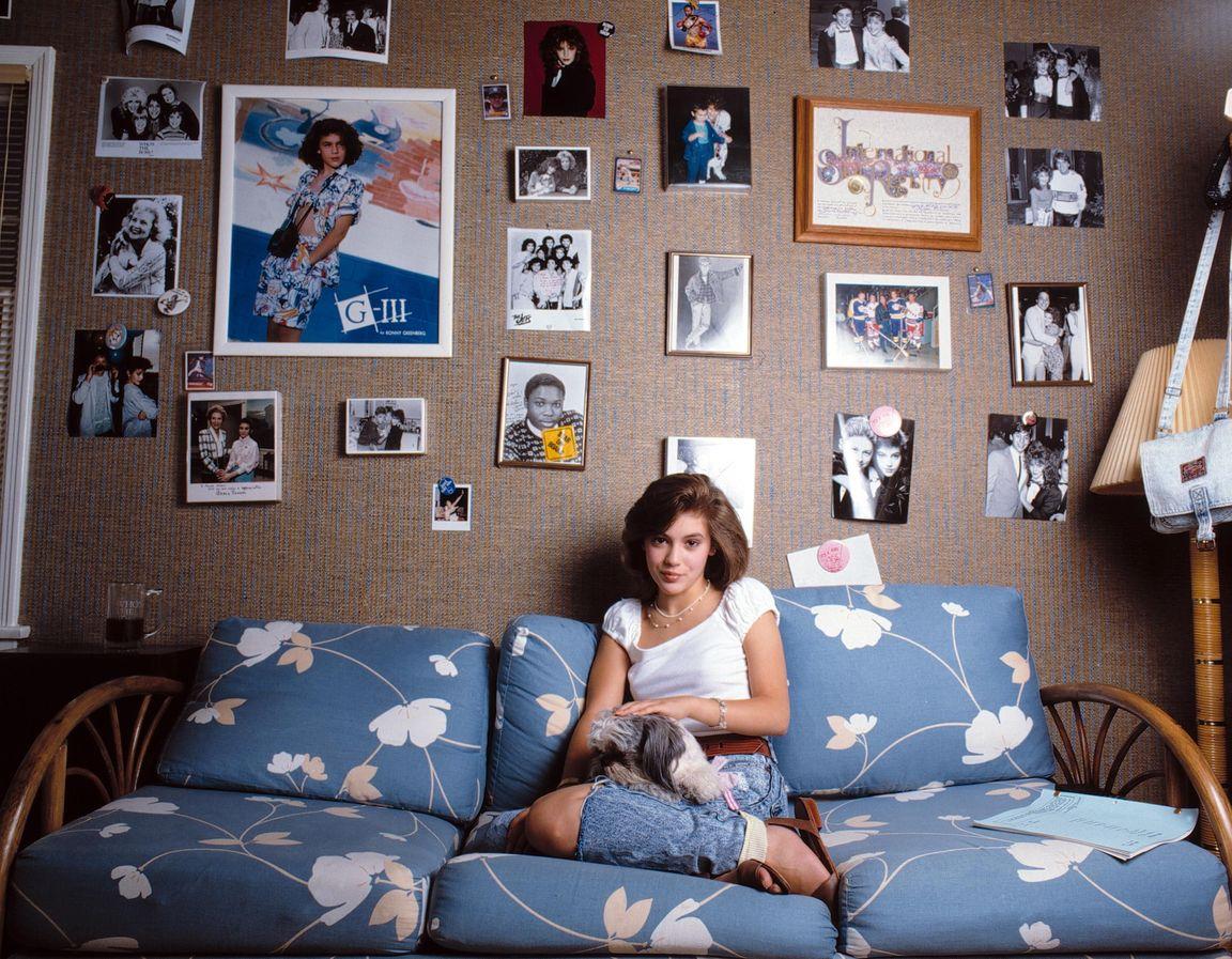 Алисса Милано в 1986 году в фотосессии Майкла Бенабиба