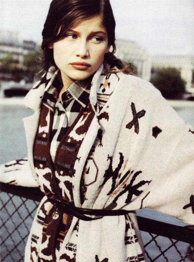 Летиция Каста в 1994 году в рекламе бренда Federica