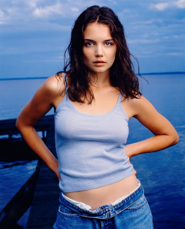 Кэти Холмс в 1998 году в фотосессии для журнала Rolling Stone