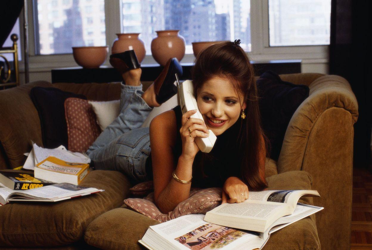 Сара Мишель Геллар и 1994 году в фотосессии Деборы Файнголд