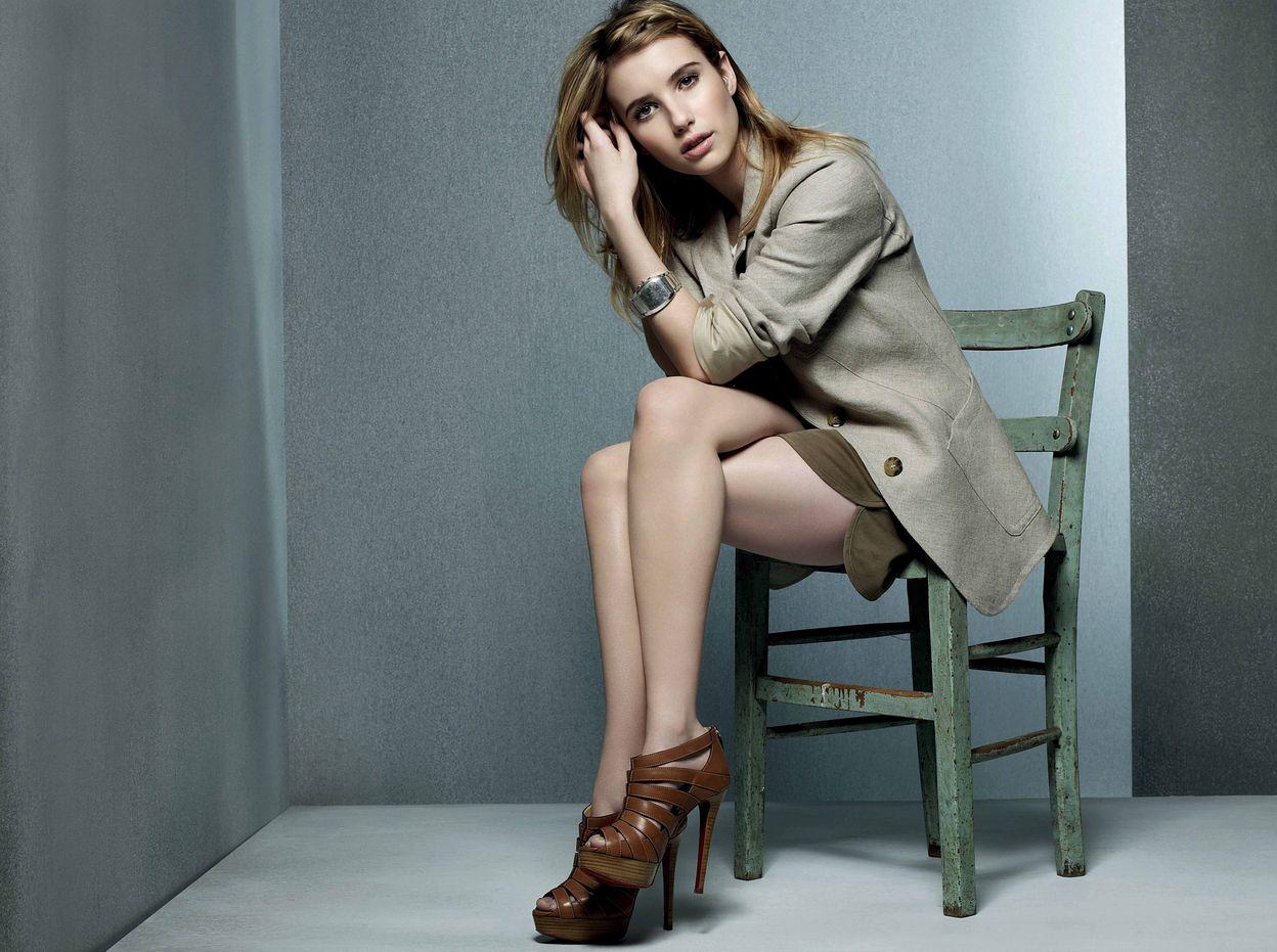 Эмма Робертс в фотосессии Джейсона Хезерингтона для журнала InStyle UK